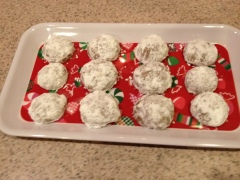 Chocolate snowballs are a great Christmas treat - they melt in your mouth!Photo credit: Words Etc.