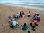 A drum circle on Flagler Beach - great fun!